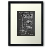 Gibson Les Paul  guitar us patent art 1955 blackboard Framed Print