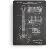 Gibson Les Paul  guitar us patent art 1955 blackboard Canvas Print
