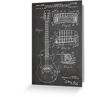 Gibson Les Paul  guitar us patent art 1955 blackboard Greeting Card