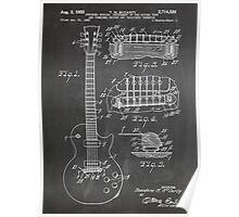 Gibson Les Paul  guitar us patent art 1955 blackboard Poster