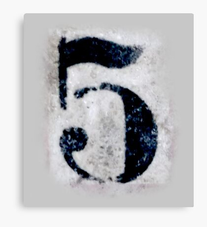 5, DIRTY FIVE, FILTHY 5, NUMBER 5, FIFTH, FIVE, Competition, TEAM SPORTS, Canvas Print