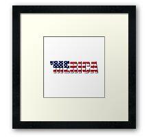 Merica America USA Framed Print