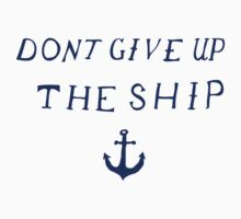 Don't Give Up the Ship- Navy One Piece - Short Sleeve