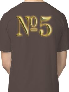 Golden Number 5, 5, NUMBER 5, in Gold, FIFTH, FIVE, 5, Competition, TEAM SPORTS, Classic T-Shirt