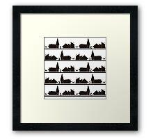 NIGHT CATS Framed Print