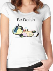 Be Delish TeddyDead  Women's Fitted Scoop T-Shirt
