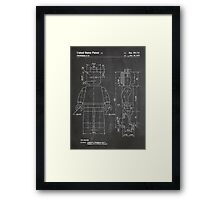 LEGO Minifigure US Patent Art Mini Figure blackboard Framed Print