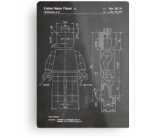 LEGO Minifigure US Patent Art Mini Figure blackboard Metal Print