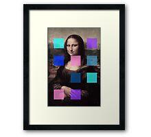 Mona Lisa Modernized Framed Print