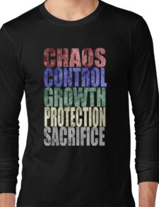 Chaos, Control, Growth, Protection, & Sacrifice Long Sleeve T-Shirt