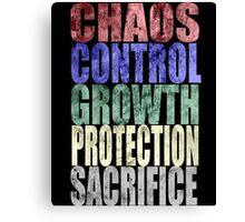 Chaos, Control, Growth, Protection, & Sacrifice Canvas Print