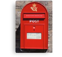 Copenhagen Postbox Canvas Print
