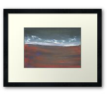 Clouds On The Horizon Framed Print