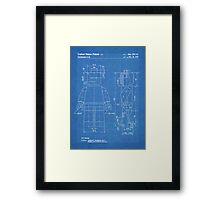 LEGO Minifigure US Patent Art Mini Figure blueprint Framed Print