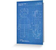 LEGO Minifigure US Patent Art Mini Figure blueprint Greeting Card