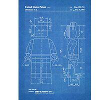 LEGO Minifigure US Patent Art Mini Figure blueprint Photographic Print