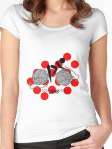 Tour De Fleece 2016   Red Women's Fitted Scoop T-Shirt