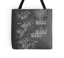 LEGO Construction Toy Blocks US Patent Art blackboard Tote Bag