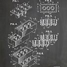 LEGO Construction Toy Blocks US Patent Art blackboard by Steve Chambers
