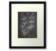 LEGO Construction Toy Blocks US Patent Art blackboard Framed Print
