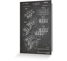 LEGO Construction Toy Blocks US Patent Art blackboard Greeting Card