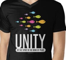Unity Spirit Bond Peace Mens V-Neck T-Shirt