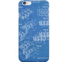LEGO Construction Toy Blocks US Patent Art blueprint iPhone Case/Skin