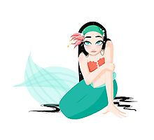Spunky Mermaid Photographic Print