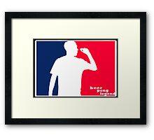 Beer Pong Legend Framed Print