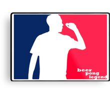 Beer Pong Legend Metal Print