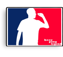 Beer Pong Legend Canvas Print