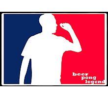 Beer Pong Legend Photographic Print