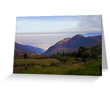High Up In The Andes Greeting Card