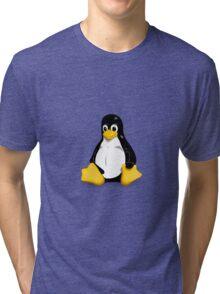 Tux the Linux Penguin - Acceptable Resolution Tri-blend T-Shirt
