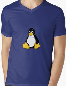 Tux the Linux Penguin - Acceptable Resolution Mens V-Neck T-Shirt