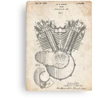 Harley Motorcycle Engine US Patent Art 1923 Harley-Davidson V-Twin Canvas Print