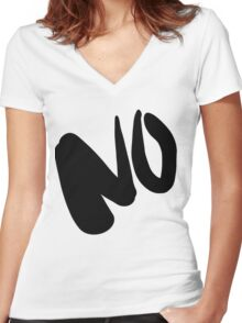 No Way Women's Fitted V-Neck T-Shirt