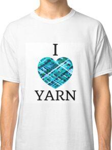 I Love Yarn -Aqua Classic T-Shirt