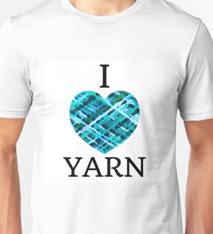 I Love Yarn -Aqua Unisex T-Shirt