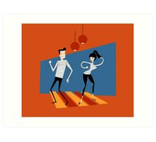 Beatnik Dance Art Print