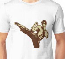 Karate man kicking Unisex T-Shirt