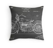 Harley-Davidson Motorcycle US Patent Art 1928 blackboard Throw Pillow