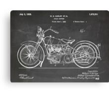 Harley-Davidson Motorcycle US Patent Art 1928 blackboard Canvas Print