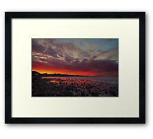 Red Morning. Framed Print