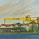 Samson and Goliath by Les Sharpe