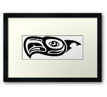 Seahawk profile art Framed Print