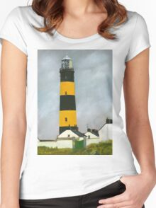 St. John's Point Lighthouse Women's Fitted Scoop T-Shirt
