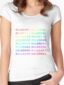 Binary... i can't read it! Women's Fitted Scoop T-Shirt