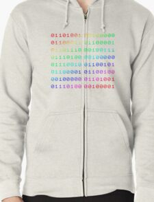 Binary... i can't read it! Zipped Hoodie