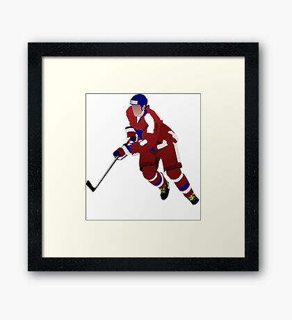 Ice hockey player Framed Print